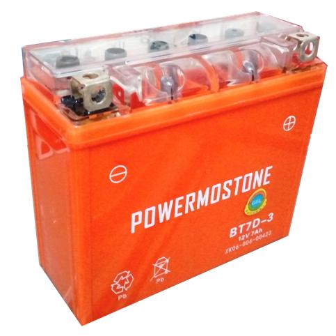 Bateria Moto 12n7a-3a (bt7d-3) Con Gel Powermostone